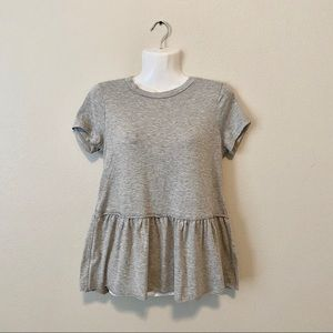 RUE 21 gray peplum top